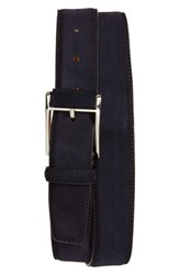Magnanni Antidifu Wrapped Buckle Suede Belt Navy