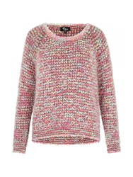 Mela Loves London Multicolour Chunky Knit Jumper Multi Coloured
