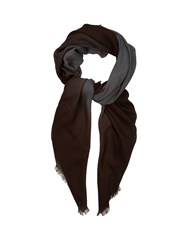 Bottega Veneta Degrade Wool Scarf Grey Multi
