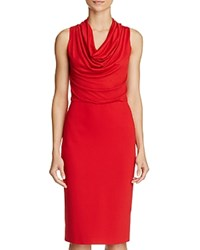 Max Mara Alabama Cowlneck Dress Red