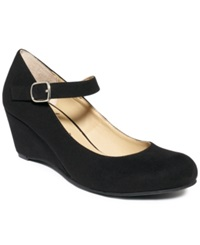 American Rag Meesha Mary Jane Wedges Women's Shoes Black