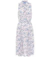 Prada Floral Print Sable Crepe Dress Multicoloured