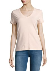 Lord And Taylor Petite V Neck Tee Orange