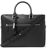 Saint Laurent Full Grain Leather Briefcase Black