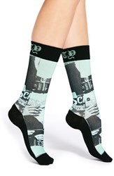 Women's Stance X Rihanna 'Most Wanted' Graphic Crew Socks Green Mint