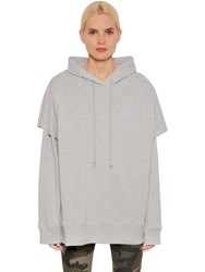 Maison Martin Margiela Oversized Hooded Cotton Sweatshirt