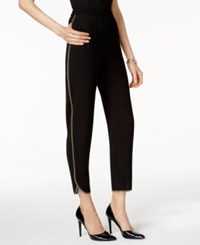 Nine West Piped Pull On Pants Black Loden