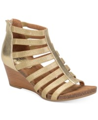 Sofft Mati Wedge Sandals Women's Shoes Rich Gold