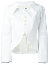 Shiro Sakai Structured Jacket White