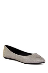 Godiva Pointed Toe Metallic Flat
