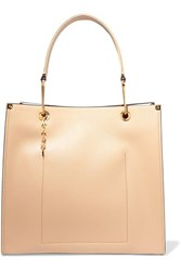 Marni Large Two Tone Textured Leather Tote Beige