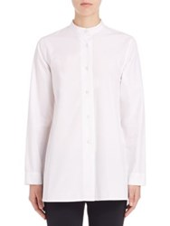 Pauw Cotton Poplin Trapeze Shirt White