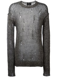 Lost And Found Ria Dunn Destroyed Effect Jumper Black