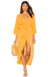 Kendall Kylie Wrap Dress Orange