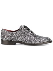 Marc Jacobs Glitter Embellished Oxford Shoes Metallic