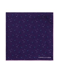 Turnbull And Asser Sewing Pin Pocket Square Purple