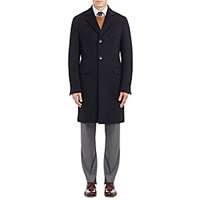 Barneys New York Cashmere Coat Navy