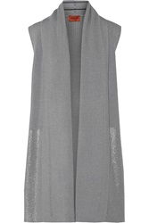 Missoni Ribbed Wool Gilet Metallic