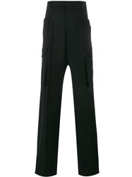 Rick Owens Tailored Cargo Trousers Black