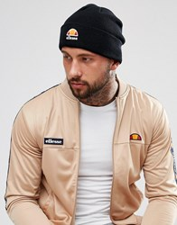 Ellesse Beanie With Small Logo In Black Black
