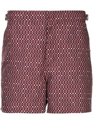 The Upside Printed Running Shorts Red