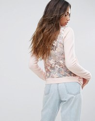 New Look Embroidered Back Cardigan Nude Pink