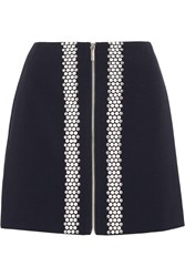 Michael Michael Kors Hotfix Embellished Ponte Mini Skirt Blue