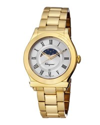 Salvatore Ferragamo 40Mm 1898 Sport Men's Moon Phase Bracelet Watch Gray