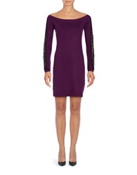 Cynthia Steffe Off The Shoulder Long Sleeved Dress Purple