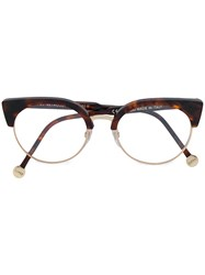 Retrosuperfuture Numero 30 Classic Glasses Acetate Metal Brown