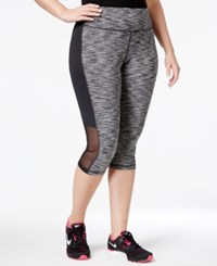 Ideology Plus Size Space Dyed Cropped Leggings Only At Macy's Noir Space Dye
