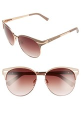 Women's Vince Camuto Round 56Mm Sunglasses Nude Rose Gold