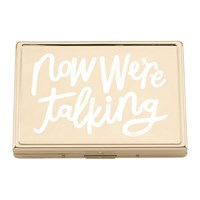 Kate Spade All That Glistens 'Now We're Talking' Card Holder