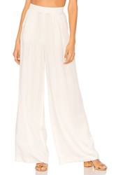 Bobi Black Modal Twill Wide Leg Pant White