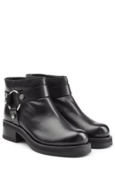 Mcq By Alexander Mcqueen Leather Ankle Boots Black