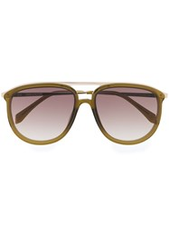 Zadig And Voltaire Aviator Shaped Sunglasses Green