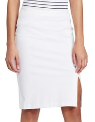 Lauren Ralph Lauren Petite Side Slit Pencil Skirt White