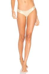 Luli Fama Buns Out Bikini Bottom Metallic Gold