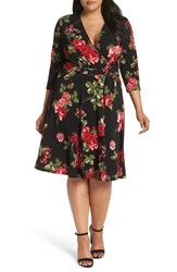 Leota Plus Size Wrap Dress Princes Rose