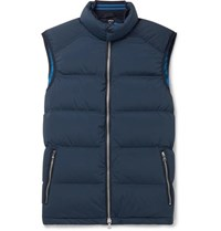 Orlebar Brown Aidey Quilted Stretch Nylon Down Gilet Navy