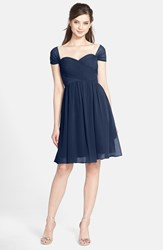 Women's Jenny Yoo 'Riley' Convertible Chiffon Dress Navy