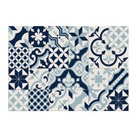 Hibernica Large Tiles Vinyl Placemat Blue
