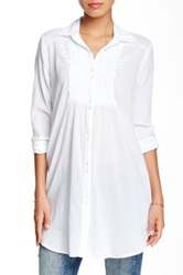 3J Workshop Embroidered Tunic Blouse White