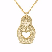 Cartergore Gold Russian Doll Pendant Necklace