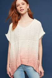 Anthropologie Fringed Beachside Hoodie Coral