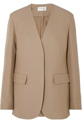 The Row Murray Wool And Silk Blend Blazer Beige