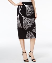 Alfani Printed Midi Pencil Skirt Only At Macy's Delicate Ginko