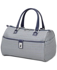 London Fog Oxford Hyperlight 16 Classic Satchel Only At Macy's Navy Houndstooth