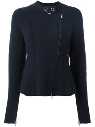3.1 Phillip Lim Ribbed Detail Zipped Jumper Blue