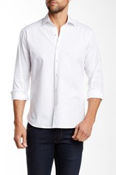 Toscano Textured Knit Long Sleeve Shirt White
